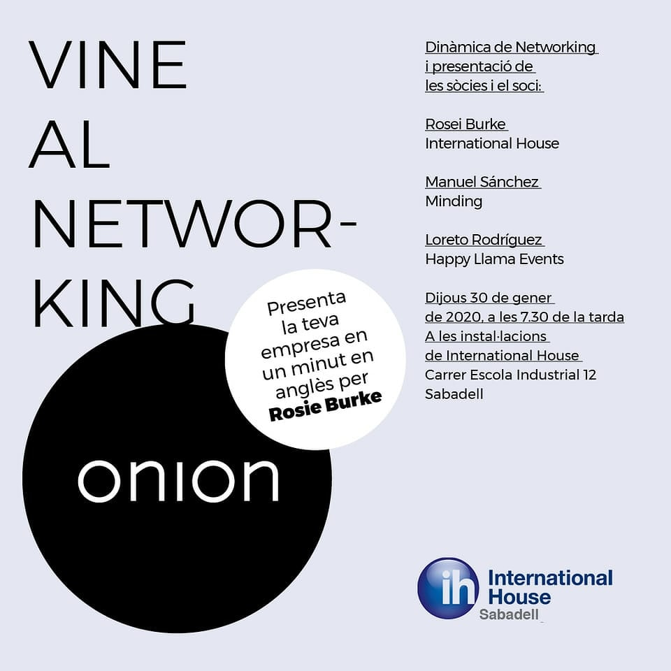 Apunta't al primer networking de l'any 2020 !